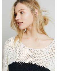 Free People - White Womens Striped At The Seams Pullover - Lyst