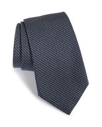 Armani | Blue Diamond Silk Tie for Men | Lyst
