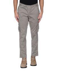 Alessandro Dell'acqua - Gray Casual Trouser for Men - Lyst