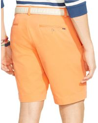 Polo Ralph Lauren | Orange Classic-Fit Flat-Front Chino Shorts for Men | Lyst