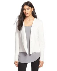 Eileen Fisher | White Silk & Organic Cotton Jacket | Lyst