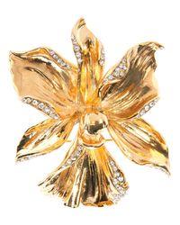 Emanuel Ungaro - Metallic Flower Brooch - Lyst