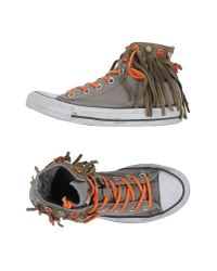 Converse | Gray High-tops & Trainers | Lyst