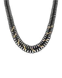 David Yurman - Black & Gold Chain Necklace - Lyst