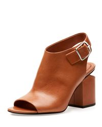 Alexander Wang - Brown Nadia Leather Mules  - Lyst
