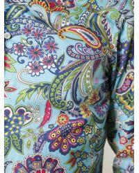 Etro - Blue Floral Paisley Print Shirt for Men - Lyst
