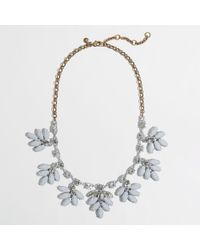 J.Crew | Gray Factory Crystal Leaf Necklace | Lyst
