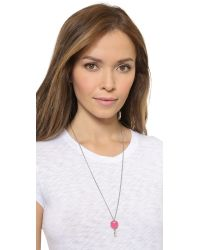 Marc By Marc Jacobs | Pink Lock In Pendant Necklace - Bright Rose | Lyst
