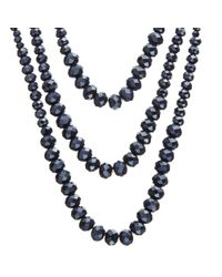 John Lewis - Blue Sparkle Long Layered Necklace - Lyst