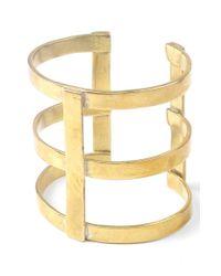 Soko | Metallic 'kizimba' Cuff Bracelet - Brass | Lyst