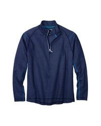 Tommy Bahama | Blue 'double Eagle' Quarter Zip Pullover for Men | Lyst