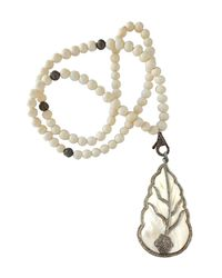 CB Bronfman | White Feather Bead Necklace | Lyst