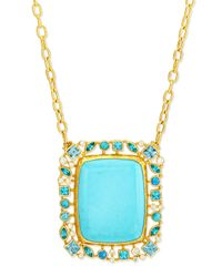 Gurhan | Blue Confetti Collection Turquoise Pendant Necklace | Lyst