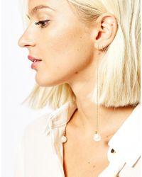 SELECTED   Metallic Karina Faux Pearl Through & Through Earrings   Lyst