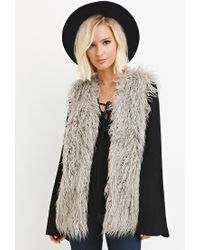 Forever 21 | Gray Shaggy Faux Fur Vest | Lyst
