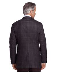 Brooks Brothers - Gray Madison Fit Saxxon Wool Check Windowpane Sport Coat for Men - Lyst