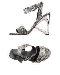 Stuart Weitzman | Gray Sandals | Lyst