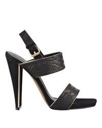 Nine West | Black Turnup Ankle Strap Sandals | Lyst