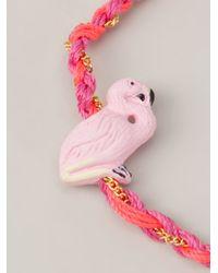 Venessa Arizaga - Pink Flamingo Bracelet - Lyst