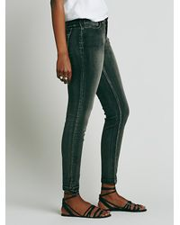 Free People | Blue Williamsburg Pitched Skinny | Lyst