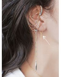 Free People - Metallic Chan Luu Womens Pull Through Bar Earrings - Lyst