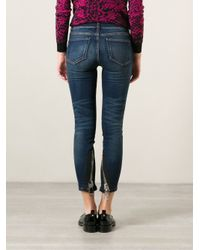 Christopher Kane - Blue Chunky Zip Jeans - Lyst