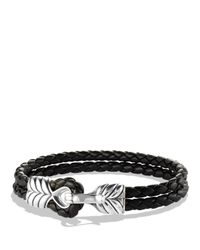 David Yurman | Metallic Chevron Two-row Bracelet In Black for Men | Lyst