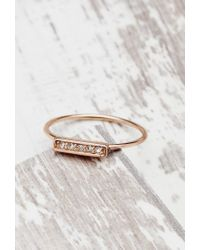 Forever 21 | Pink Shashi Tracy East West Ring | Lyst