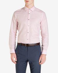 Ted Baker - Pink Linen Shirt for Men - Lyst