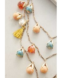Anthropologie - Red Tundra Blossom Necklace - Lyst