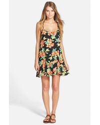 Rip Curl - Black 'Song Bird' Floral Print Cover-Up - Lyst