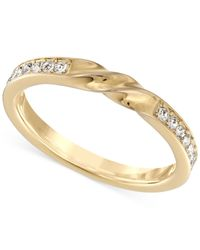 Swarovski   Metallic Curly Gold-tone Crystal Ring   Lyst