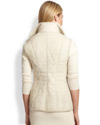 Ralph Lauren Black Label - White Croc-Embossed Leather Vest - Lyst