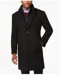 Michael Kors   Black Michael Roger Zipper-bib Overcoat for Men   Lyst