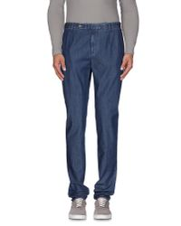 Incotex - Blue Denim Trousers for Men - Lyst