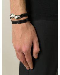 BVLGARI - Black Snake Head Bracelet - Lyst