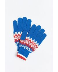 Urban Outfitters - Blue Fair Isle Touchscreen Glove for Men - Lyst