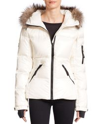 Sam. | White Blake Fur-trimmed Jacket | Lyst