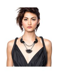 Lulu Frost | Beacon Necklace - Black | Lyst