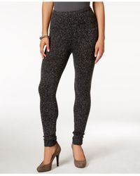 Hue | Black Tweed Sweater Leggings | Lyst