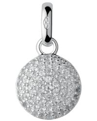 Links of London | Metallic Pave Topaz Disc Charm | Lyst