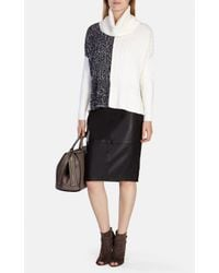 Karen Millen - Multicolor Chunky Textured Roll-neck Jumper - Lyst