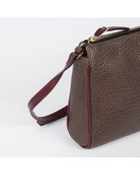 Paul Smith | Brown Women's Taupe And Damson Calf Leather Pochette | Lyst