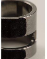 Atelier Swarovski - Black Large Viktor & Rolf 'velvet Rock' Ring - Lyst