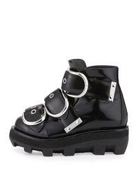 Alexander Wang - Black Sloane Triple-buckled Platform Boot - Lyst