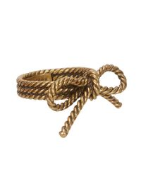 Marc Jacobs - Purple Gold Tone Bow Ring - Lyst