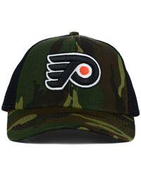 Reebok - Green Philadelphia Flyers Camo Trucker Cap for Men - Lyst