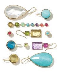 Ippolita | Blue 18k Rock Candy Turquoise Teardrop Earrings | Lyst