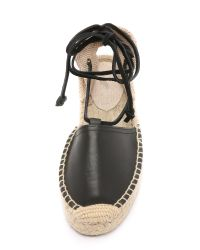 Soludos - Black Platform Gladiator Sandals - Lyst