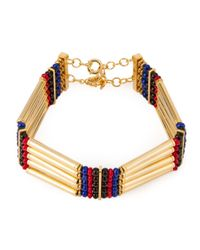 Ambush | Metallic Multi Straps Beaded Chocker Necklace for Men | Lyst